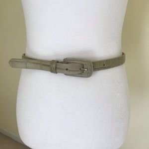 Accessories - Green leather belt